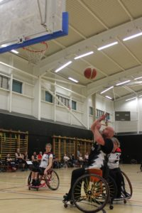 Scott Webster converting a fast break.